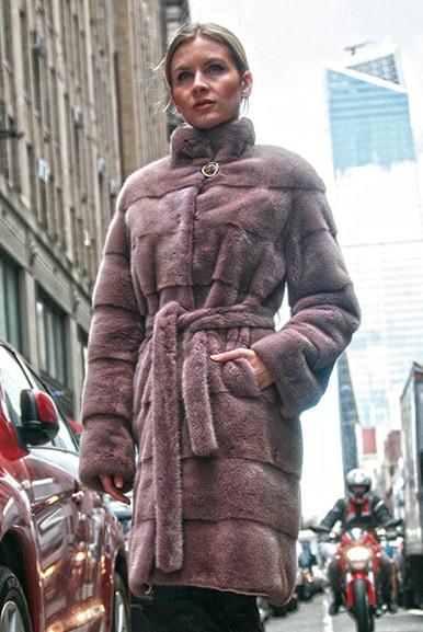 Lavender Mink Fur Coat