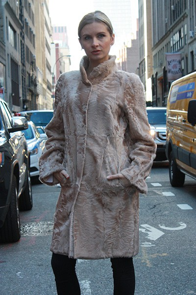 Camel Lamb Reversible Fur Stroller Size 4-8