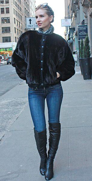 Sheared Ranch Mink Fur Jacket