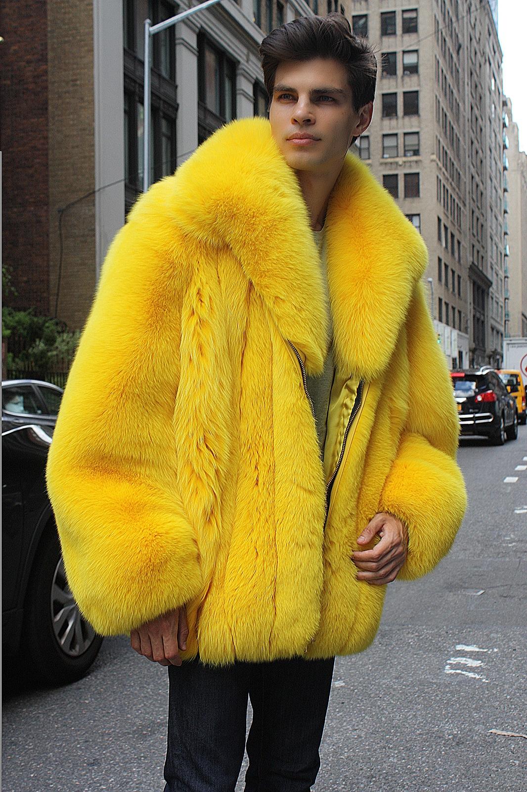 men's fur coat