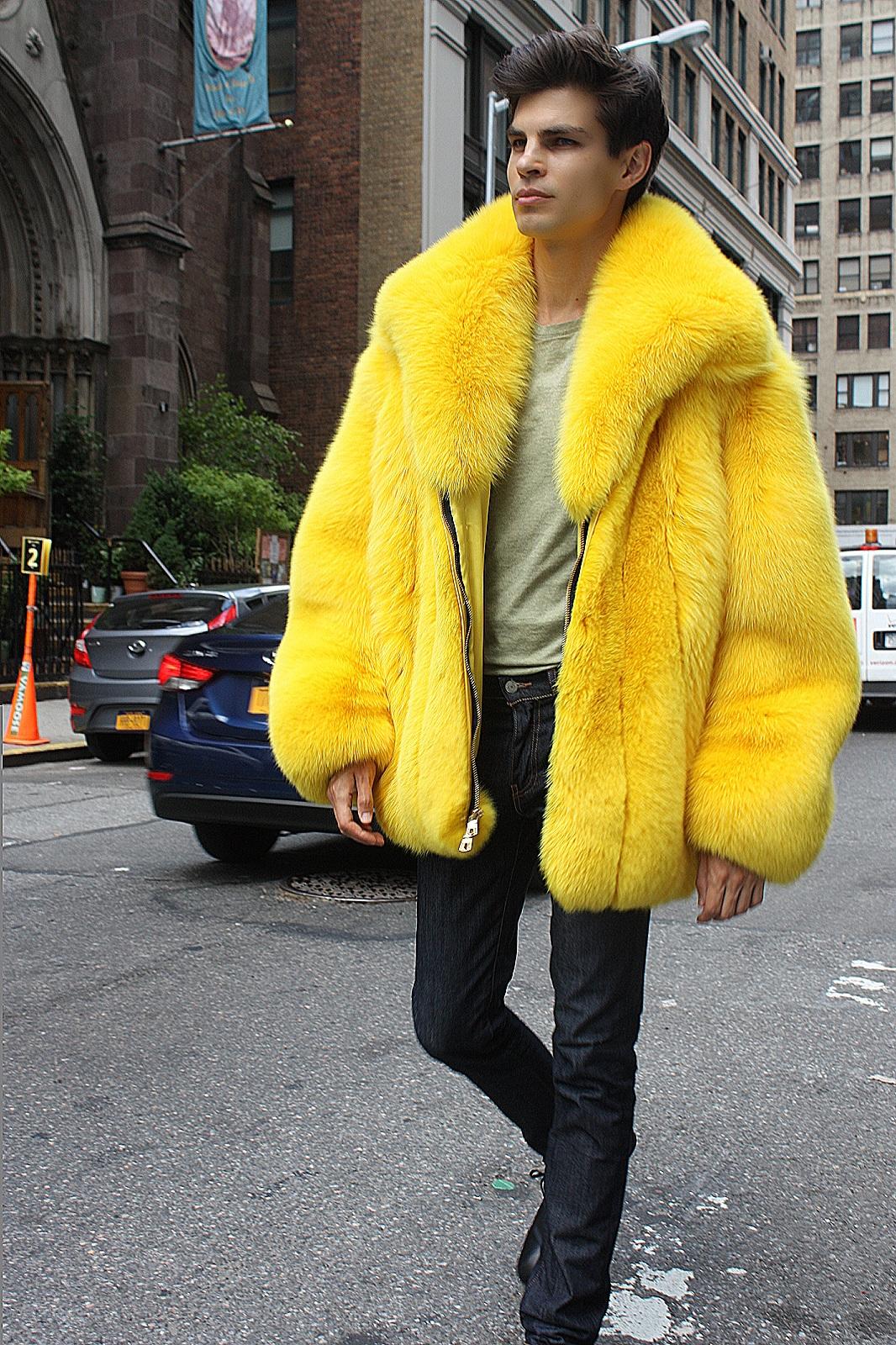 men's fur strollers