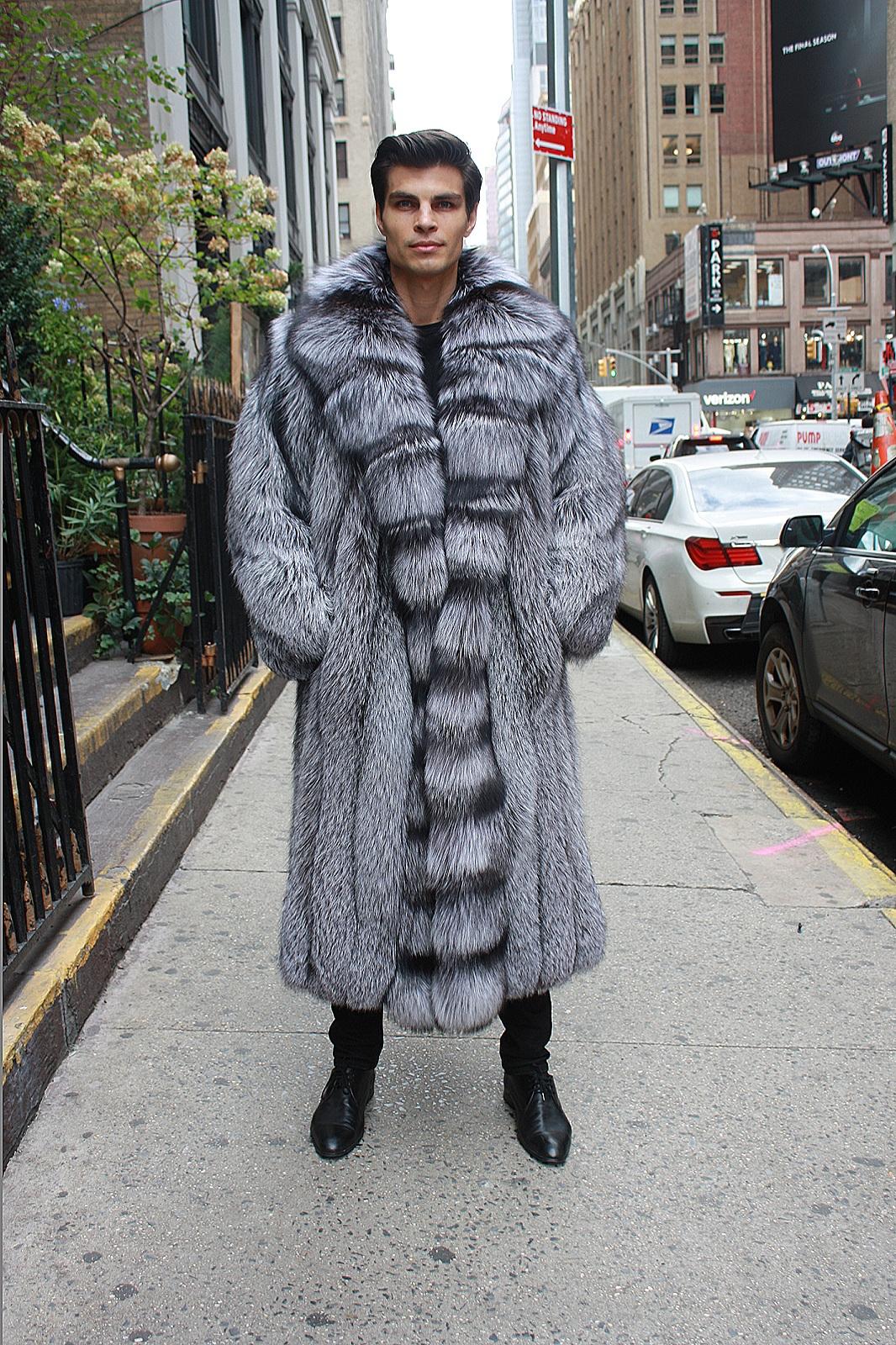 men's fox fur vest
