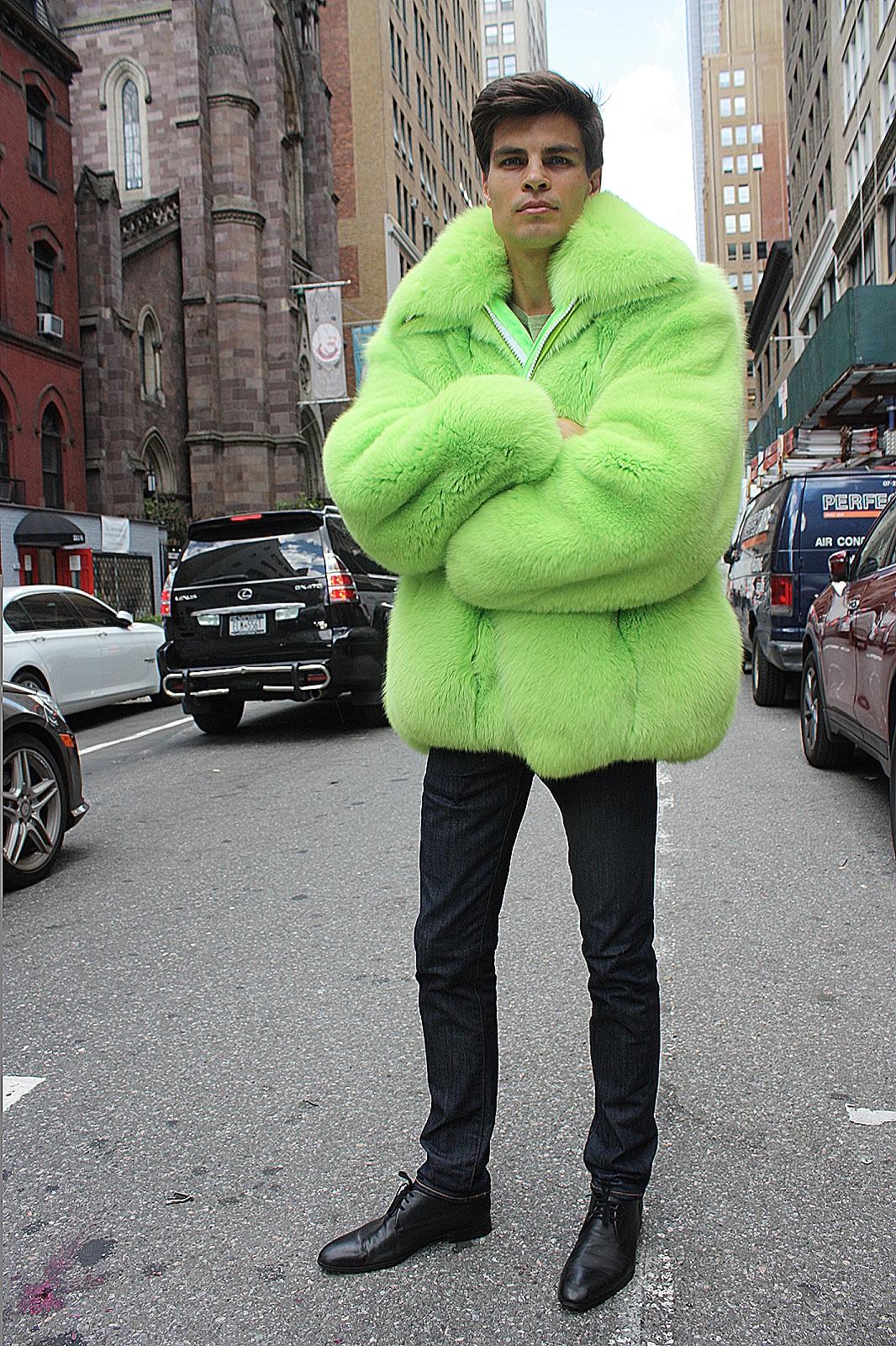 men's mink fur jacket