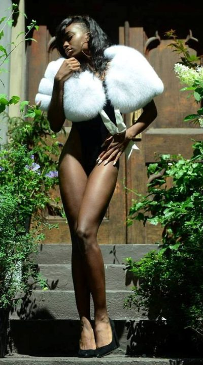 White Fox Cape Great for Weddings