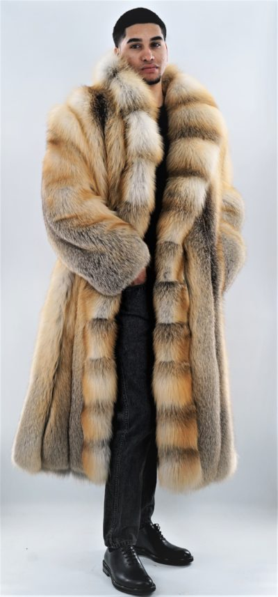 Men's Fur Coat Full Length Golden Isle