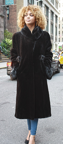 569cf2581 Dark Brown Sheared Mink Fur Coat