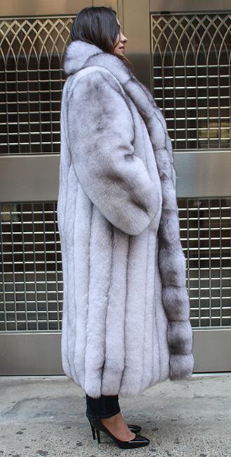 Full Length Blue Fox Fur Coat