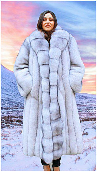plus size fox fur coat