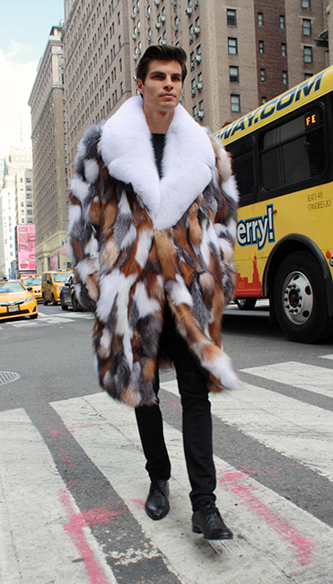 Multi Color Fox Coat