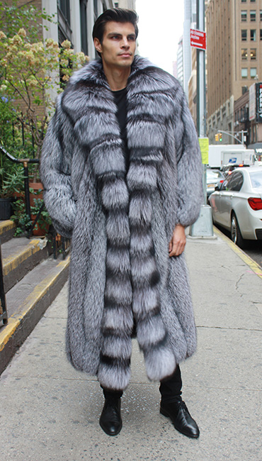 Classic Men's Canadian Silver Fox Fur Coat 234476MARC KAUFMAN FURS ...