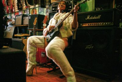 White Mink Leggings Guitar