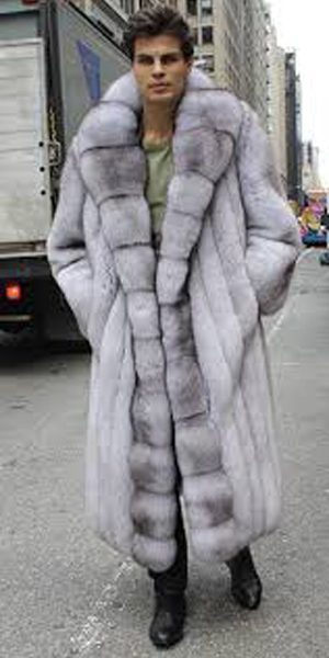 Men's Blue Fox Coat Full Length 88554MARC KAUFMAN FURS | MARC ...
