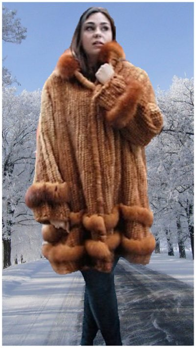 plus size whiskey knit mink stroller
