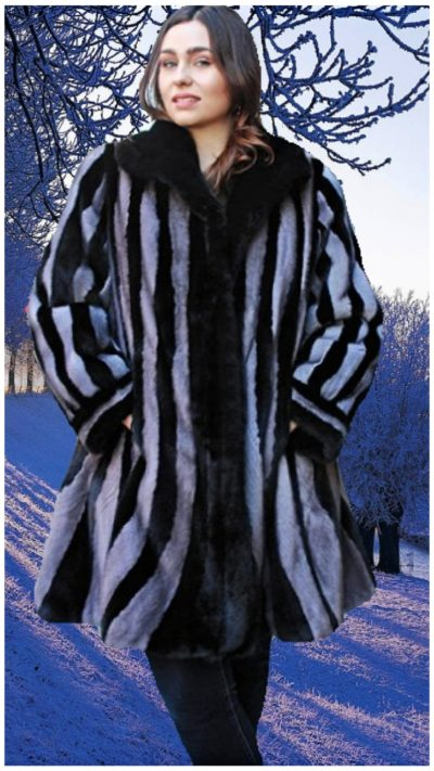 black and grey mink for stroller