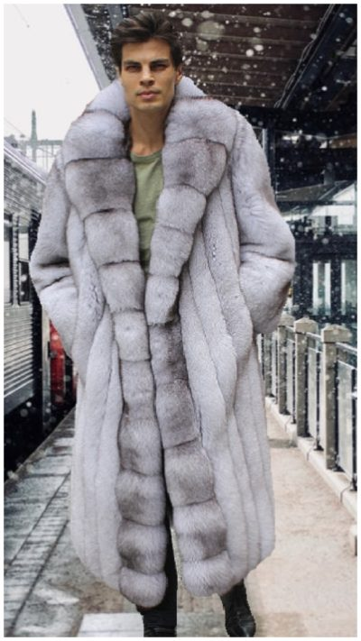 Men's fox fur jackets