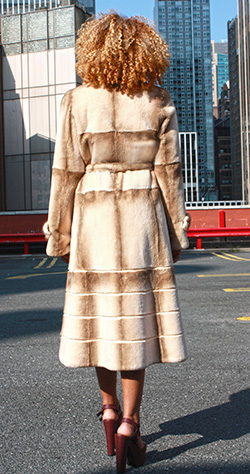 Two Toned Rex Rabbit Fur Coat