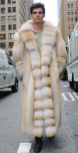 Mens Golden Isle Fur Coat
