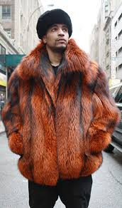 Orange Mens Fox Bomber Jacket