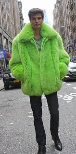 Mens lime green fox bomber jacket