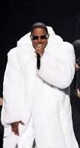 Mase White Fox Coat red carpet furs