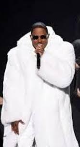 Mase White Fox Coat red carpet furs