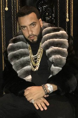 French Montana Mink Stroller Chinchilla Fur Collar