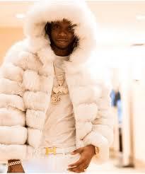 Rapper Krept White Fox Jacket Hood