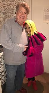 K Michelle pink Sheared Rex Fur Jacket
