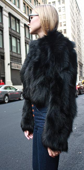 Black Fox Fur Jacket