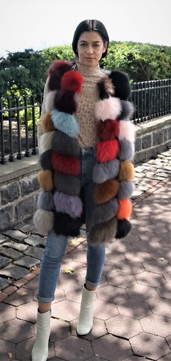 Colorful Fox Fur Vest