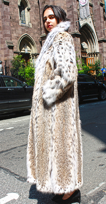 Full Length American Cat Lynx Fur Coat
