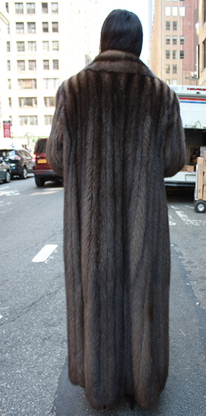 Full Length Russian Sable Fur Coat