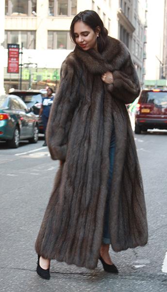 Full Length Russian Sable Fur Coat