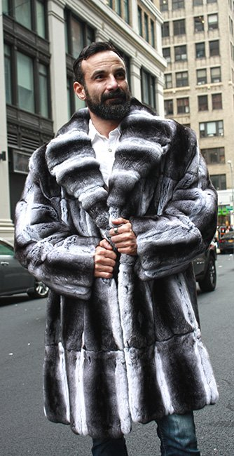 Mens Chinchilla Fur Coat