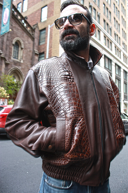Brown Authentic Gator Jacket Marc Kaufman Furs