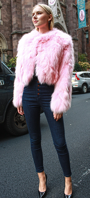 Light Pink Fox Fur Jacket