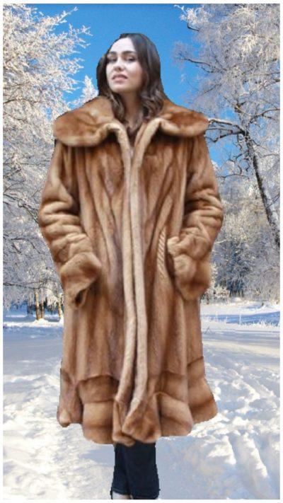whiskey mink fur coat