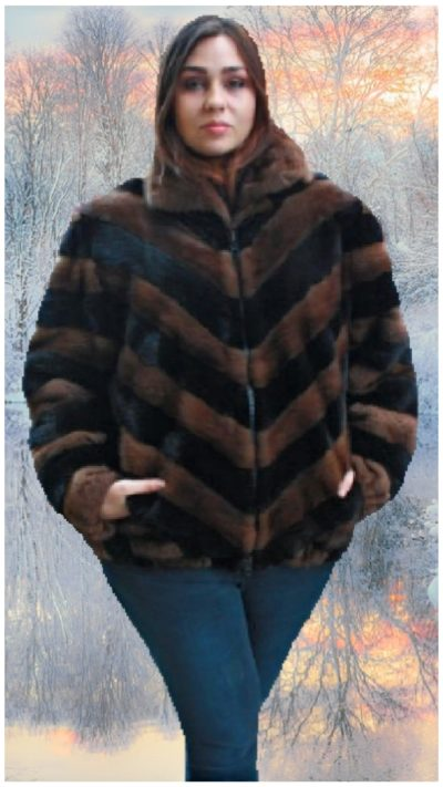 plus size ranch mahogany mink bomber