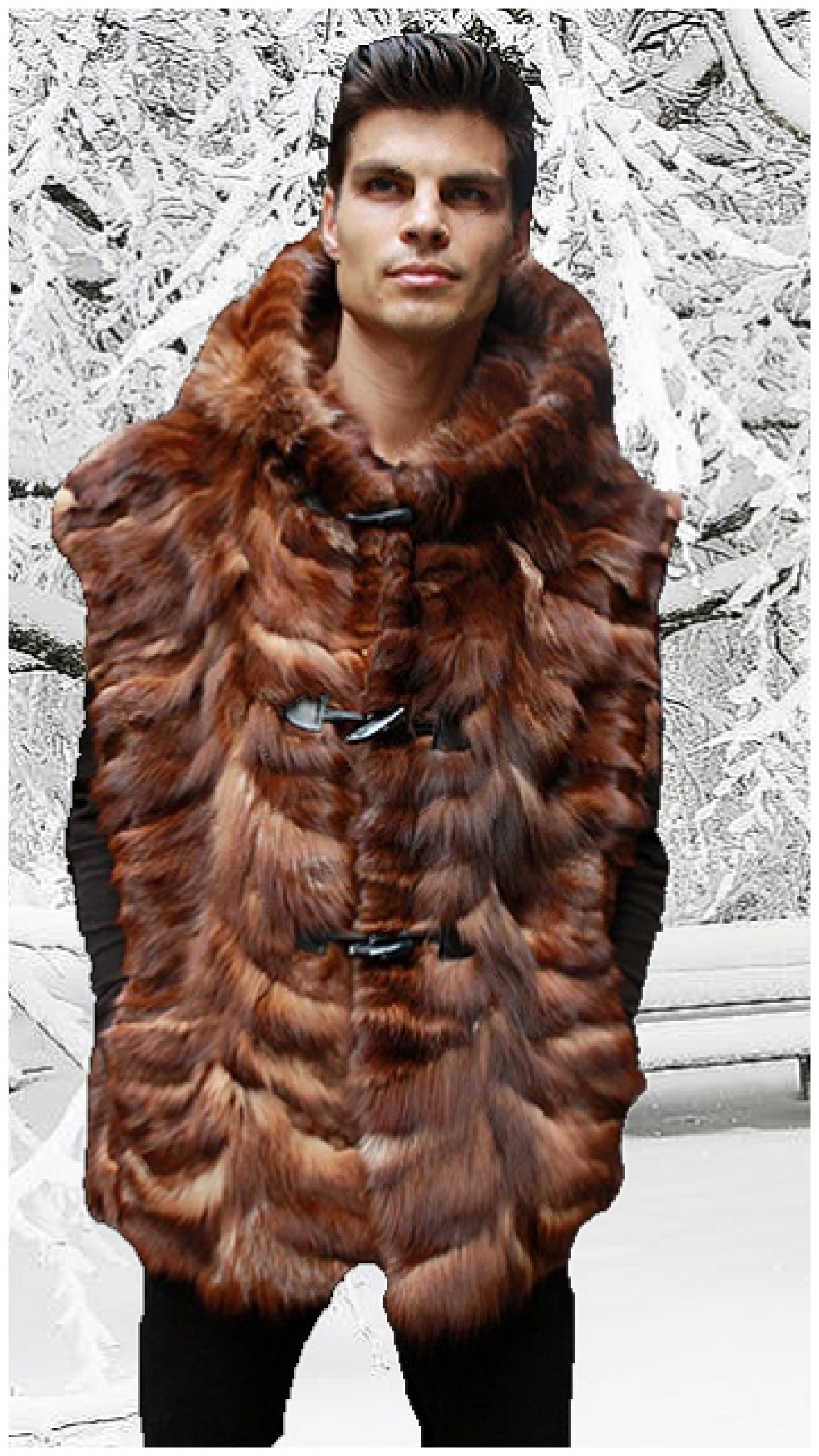 mens fox fur coats