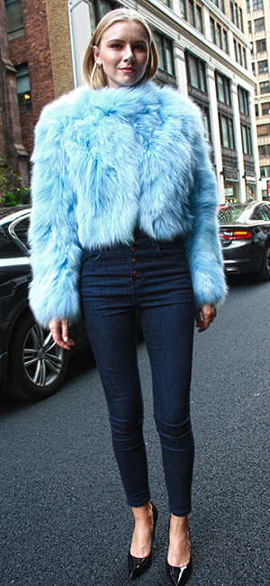 Powder Blue Fox Fur Jacket