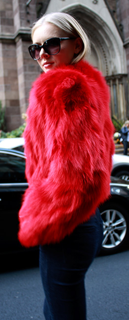 Red Fox Fur Jacket