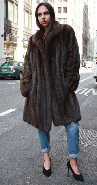 Russian Sable Fur Stroller