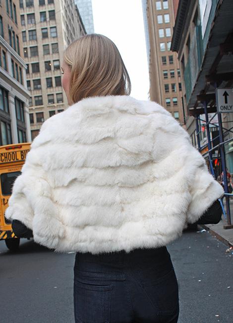 White Rabbit Fur Capelet