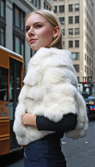 White Rabbit Fur Capelet