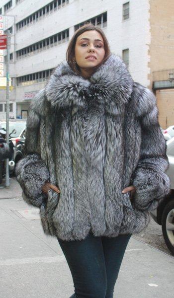 Plus Size Silver Fox Jacket