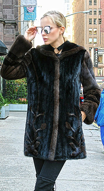 woman mink fur coats