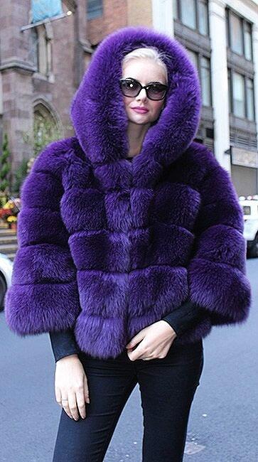 Purple Fox Jacket Hood 1395