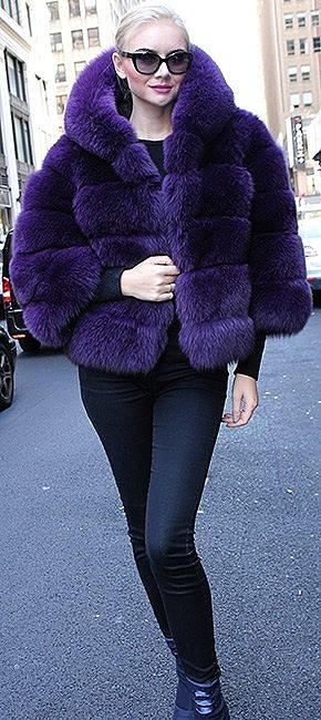Purple Fox Jacket Hood