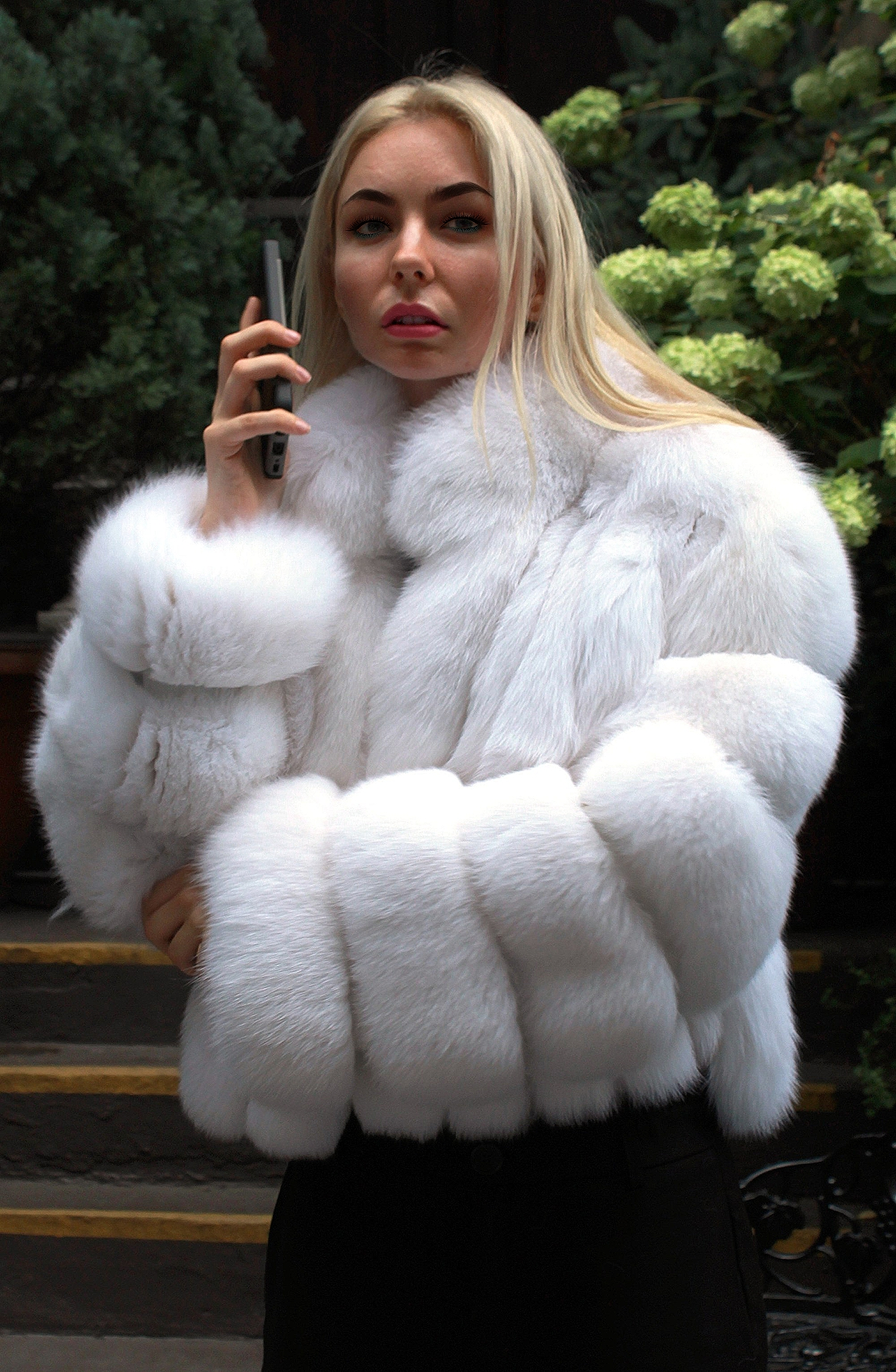 White fox jackets for woman
