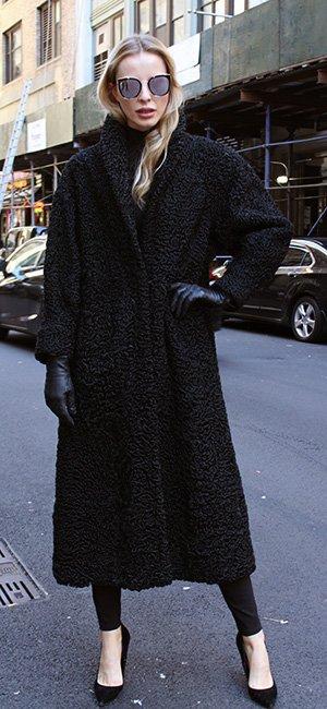 Black Persian Fur Coat